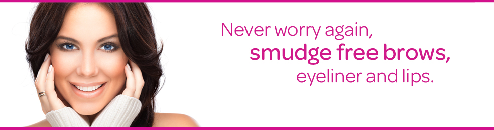 Smudge free brows, never worry again